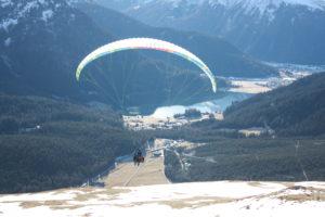 Tandem Gleitschirmflug Start Gotschna Davosersee
