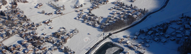 Tandem Gleitschirmflug Winterlandeplatz Klosters